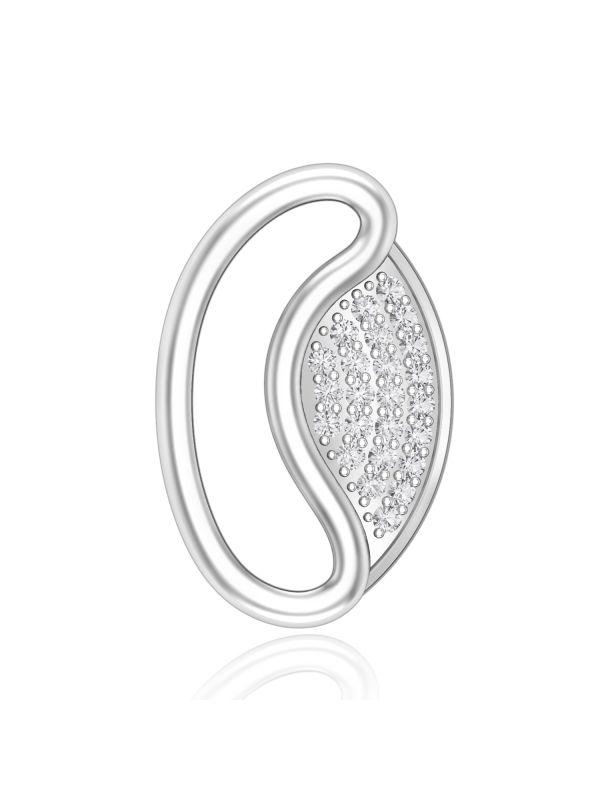 Silgo 925 Sterling Silver Rhodium Plated Cubic Zirconia Women Pendant Jewelry